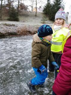V zimě na rybníku
